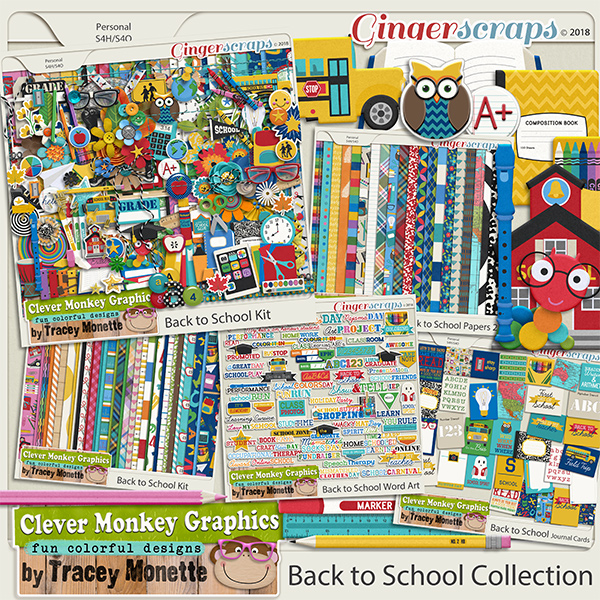 Back to School Collection by Clever Monkey Graphics