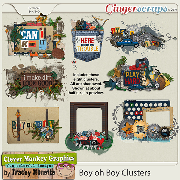 Boy oh Boy Clusters by Clever Monkey Graphics