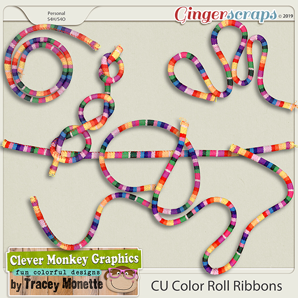 CU Color Roll Ribbons by Clever Monkey Graphics