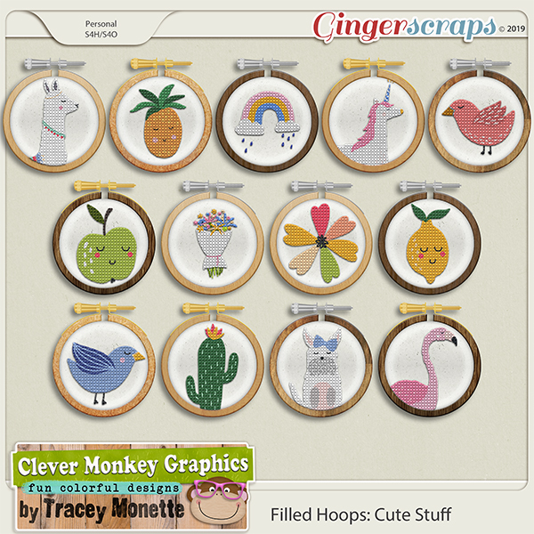 Filled Hoops - Cute Stuff by Clever Monkey Graphics