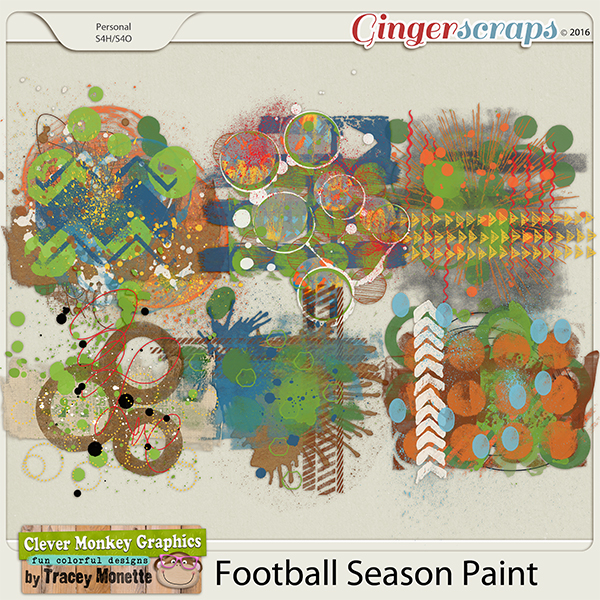 Football Season Paint by Clever Monkey Graphics