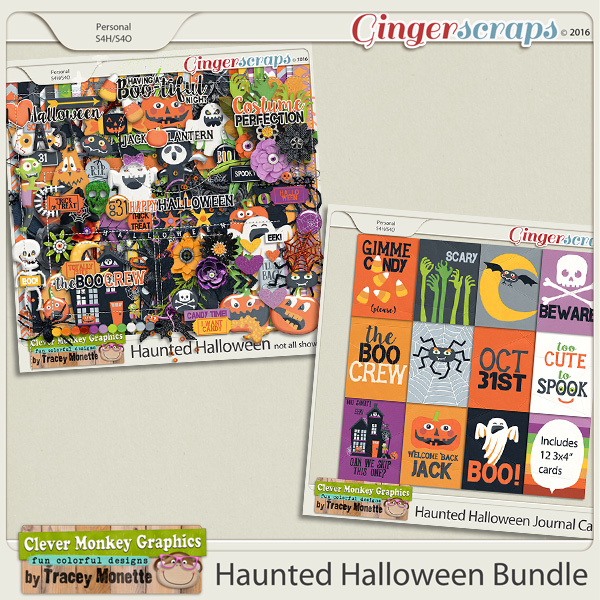 Haunted Halloween Bundle by Clever Monkey Graphics