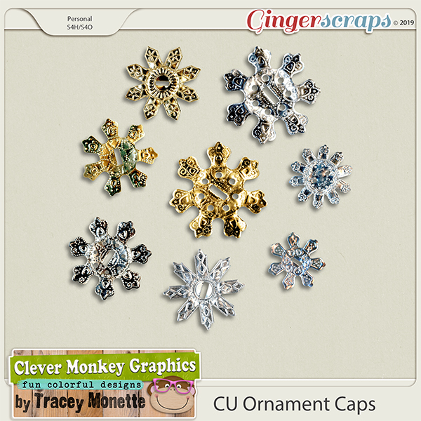 CU Ornament Caps by Clever Monkey Graphics