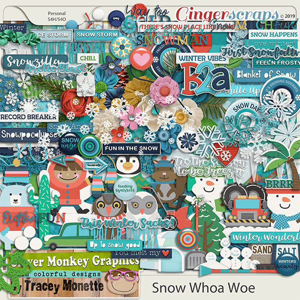Snow Whoa Woe by Clever Monkey Graphics