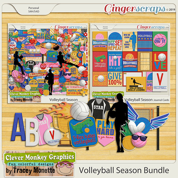 Volleyball Season Bundle by Clever Monkey Graphics