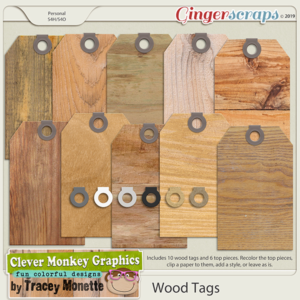 Wood Tags by Clever Monkey Graphics