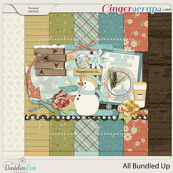 All Bundled Up Digital Scrapbook Kit by Dandelion Dust Designs