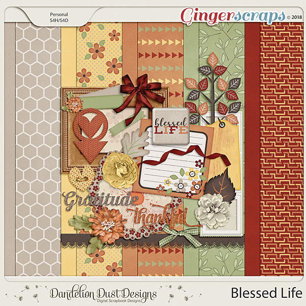 Blessed Life Digital Scrapbook Kit by Dandelion Dust Designs