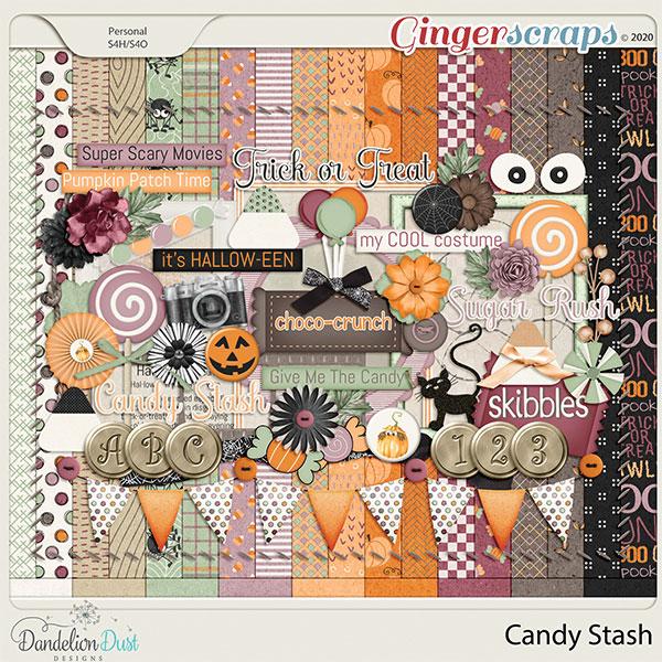 Candy Stash Digital Scrapbook Kit By Dandelion Dust Designs
