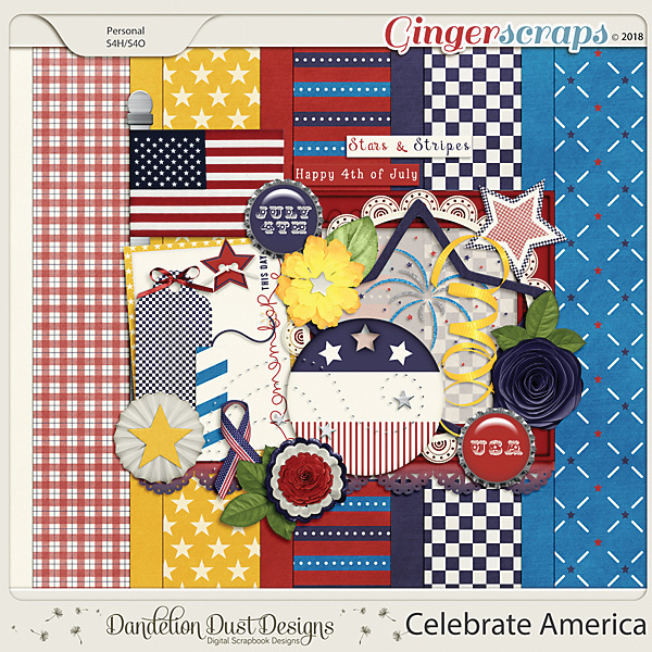 Celebrate America Digital Scrapbook Kit By Dandelion Dust Designs