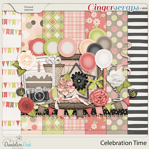 Celebration Time Digital Scrapbook Kit by Dandelion Dust Designs