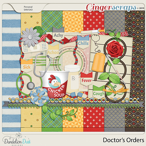 Doctor's Orders Digital Scrapbook Kit by Dandelion Dust Designs
