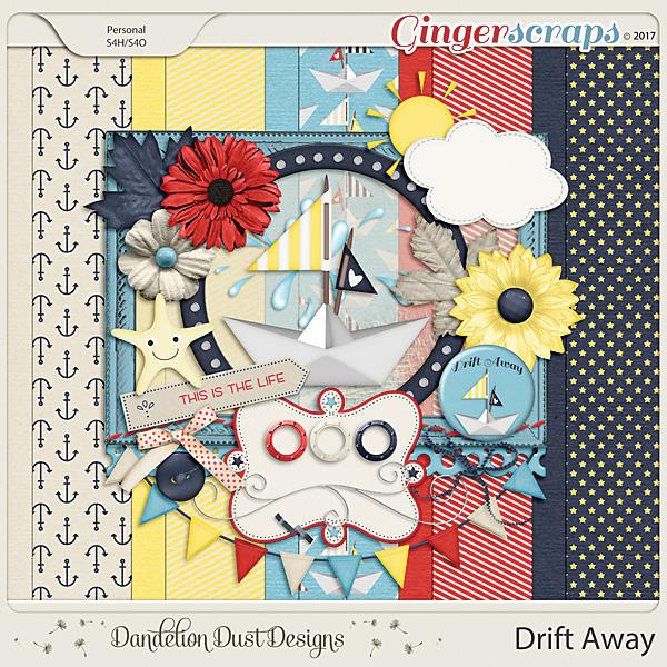 Drift Away Digital Scrapbook Kit By Dandelion Dust Designs