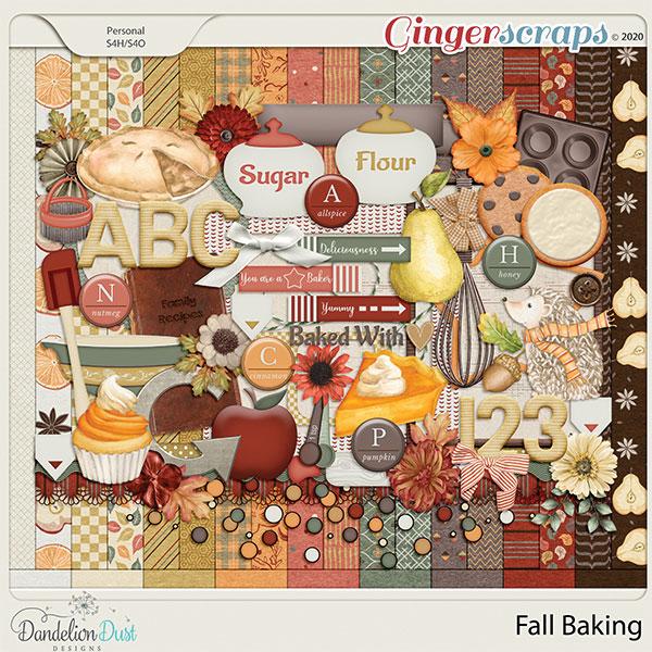 Fall Baking Digital Scrapbook Kit By Dandelion Dust Designs