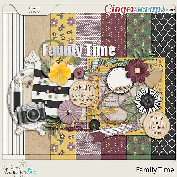 Family Time Digital Scrapbook Kit by Dandelion Dust Designs
