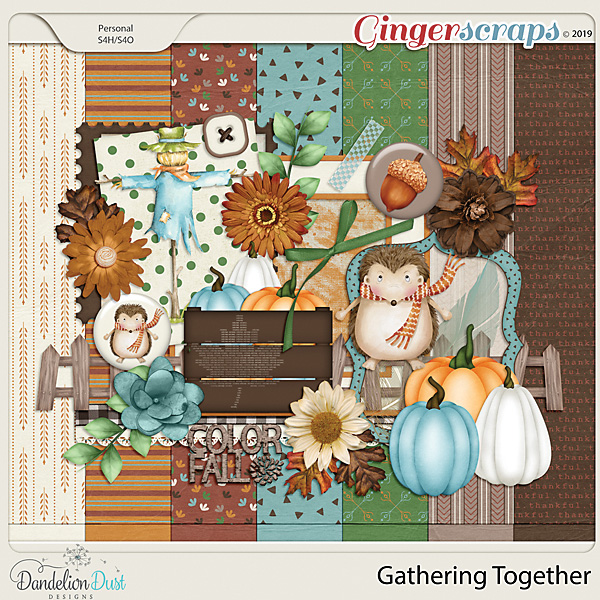 Gathering Together Digital Scrapbook Kit by Dandelion Dust Designs