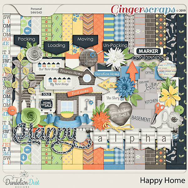 Happy Home Digital Scrapbook Kit By Dandelion Dust Designs