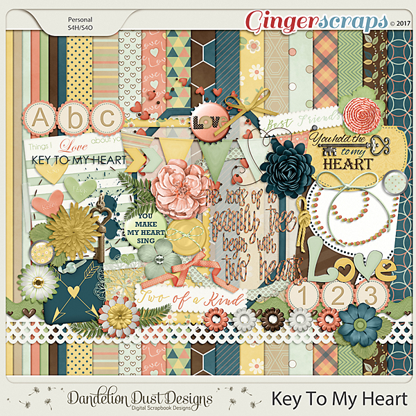 Key To My Heart By Dandelion Dust Designs