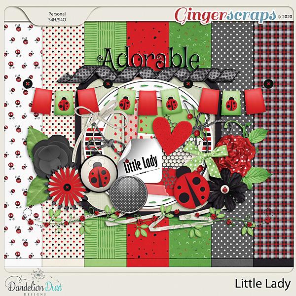 Little Lady Digital Scrapbook Kit By Dandelion Dust Designs