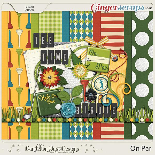 On Par Digital Scrapbook Kit By Dandelion Dust Designs