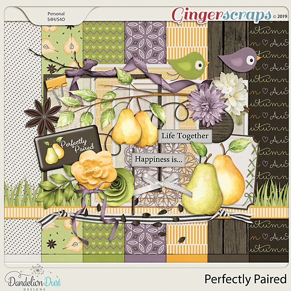 Perfectly Paired Digital Scrapbook Kit by Dandelion Dust Designs