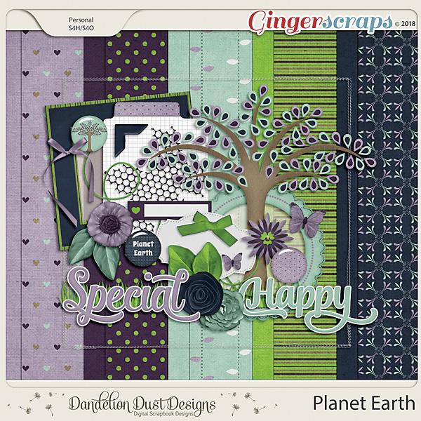 Planet Earth Digital Scrapbook Kit By Dandelion Dust Designs