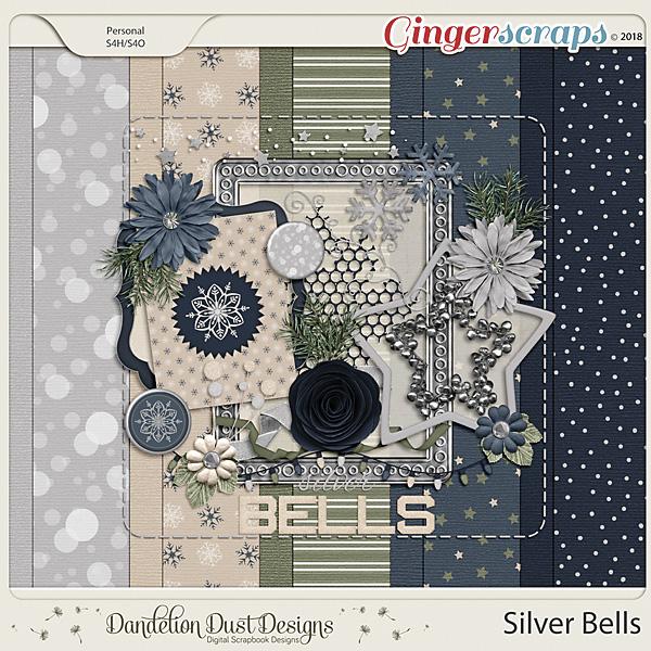 Silver Bells Digital Scrapbook Kit by Dandelion Dust Designs