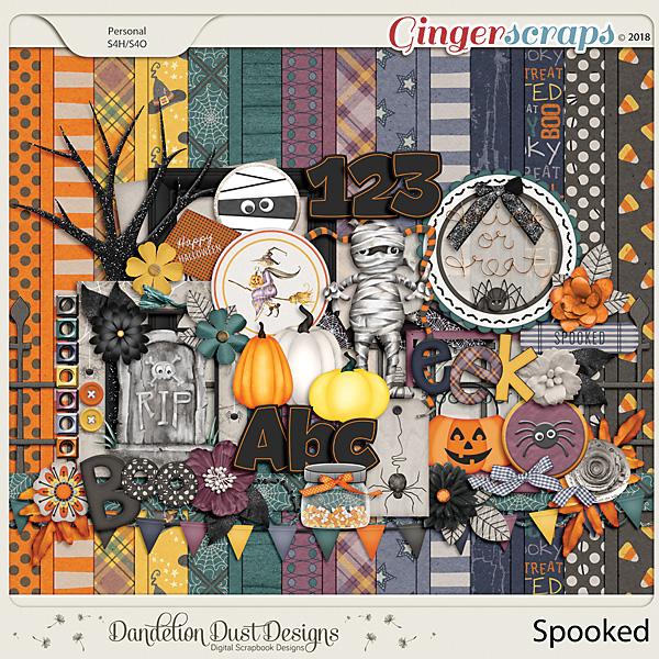 Spooked Digital Scrapbook Kit By Dandelion Dust Designs