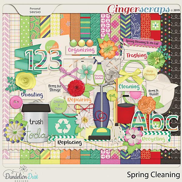 Spring Cleaning Digital Scrapbook Kit by Dandelion Dust Designs