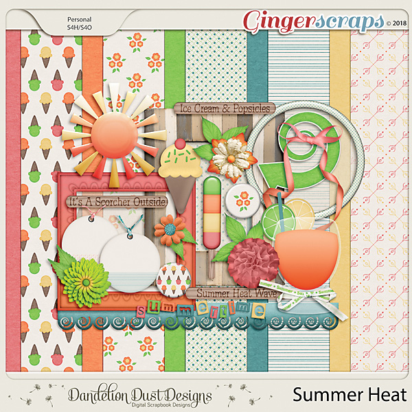 Summer Heat Digital Scrapbook Kit By Dandelion Dust Designs