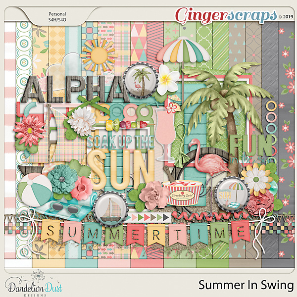 Summer In Swing Digital Scrapbook Kit by Dandelion Dust Designs