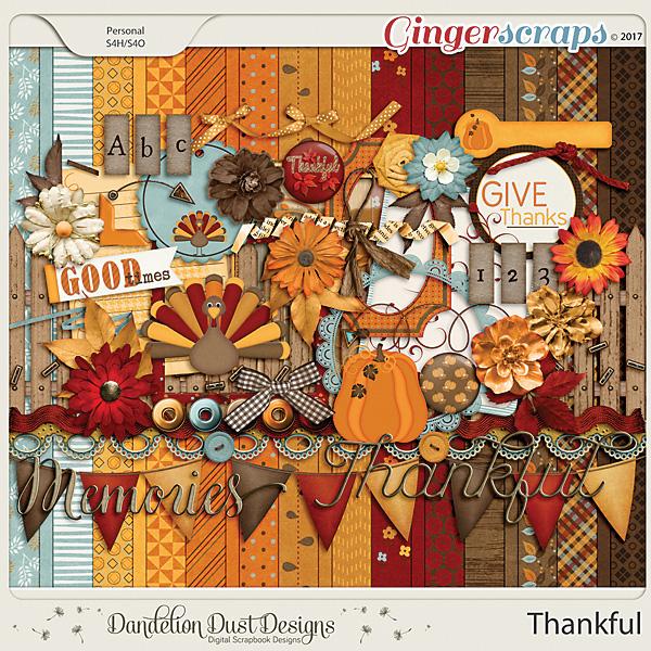 Thankful Digital Scrapbook Kit By Dandelion Dust Designs