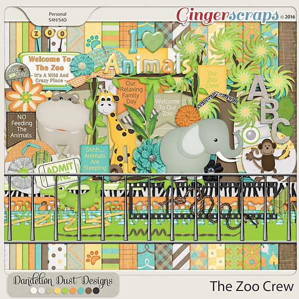The Zoo Crew by Dandelion Dust Designs