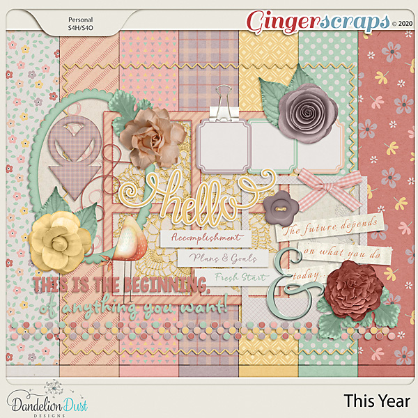 This Year Digital Scrapbook Kit by Dandelion Dust Designs
