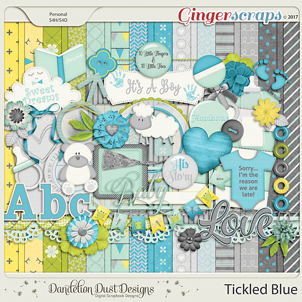 Tickled Blue By Dandelion Dust Designs