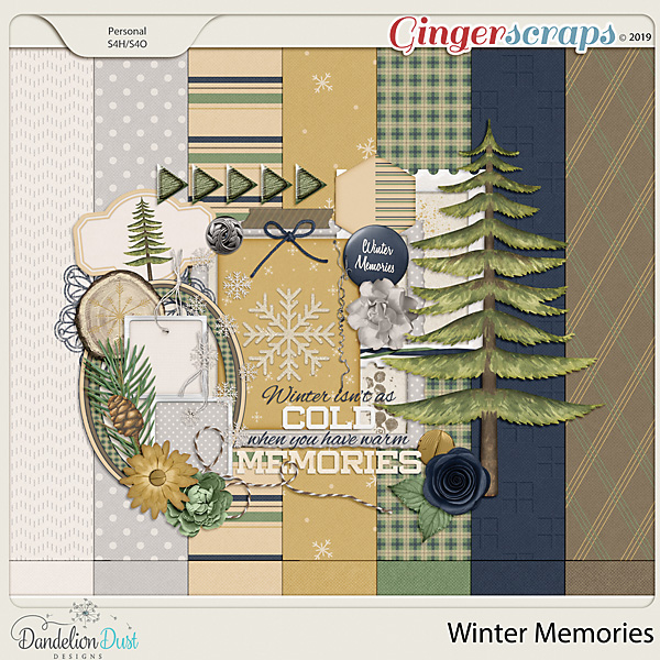 Winter Memories Digital Scrapbook Kit by Dandelion Dust Designs