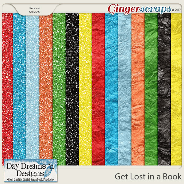 Get Lost in a Book {Glitters} by Day Dreams 'n Designs