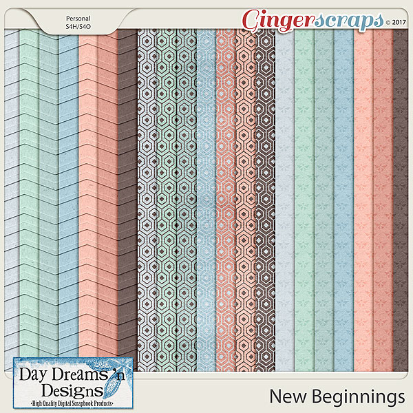 New Beginnings {Extra Papers} by Day Dreams 'n Designs