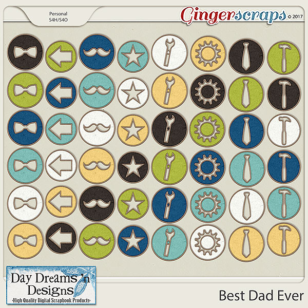 Best Dad Ever {Chipboards} by Day Dreams 'n Designs