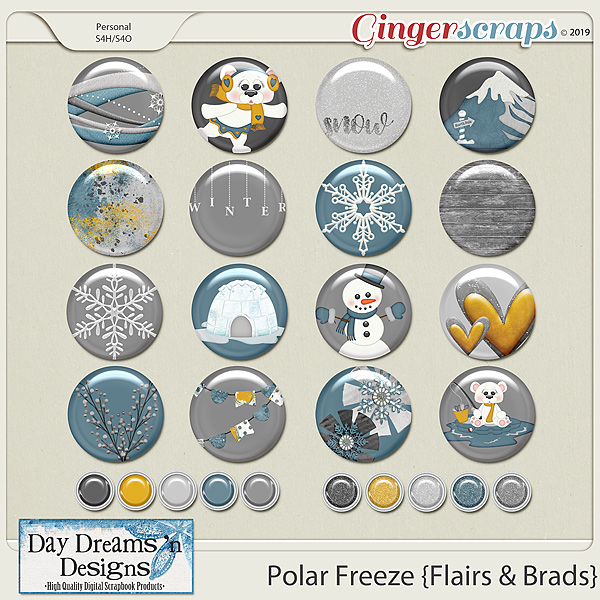 Polar Freeze {Flairs} by Day Dreams 'n Designs
