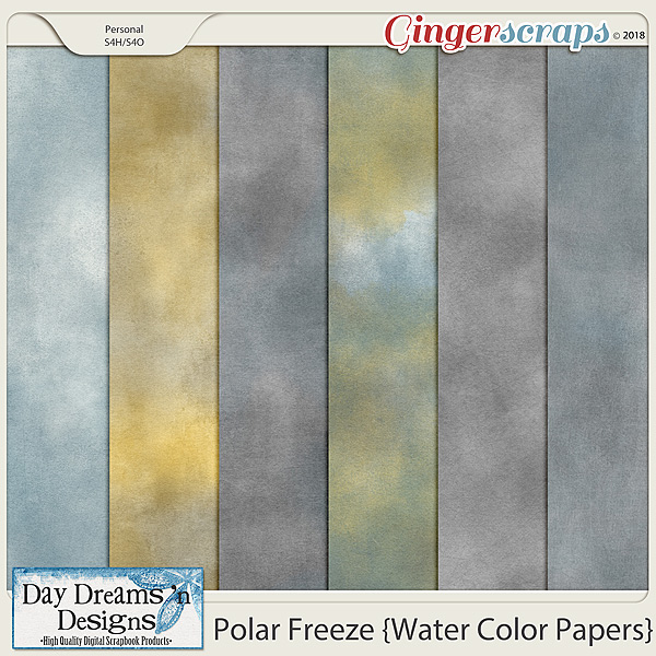 Polar Freeze {Water Color Papers} by Day Dreams 'n Designs
