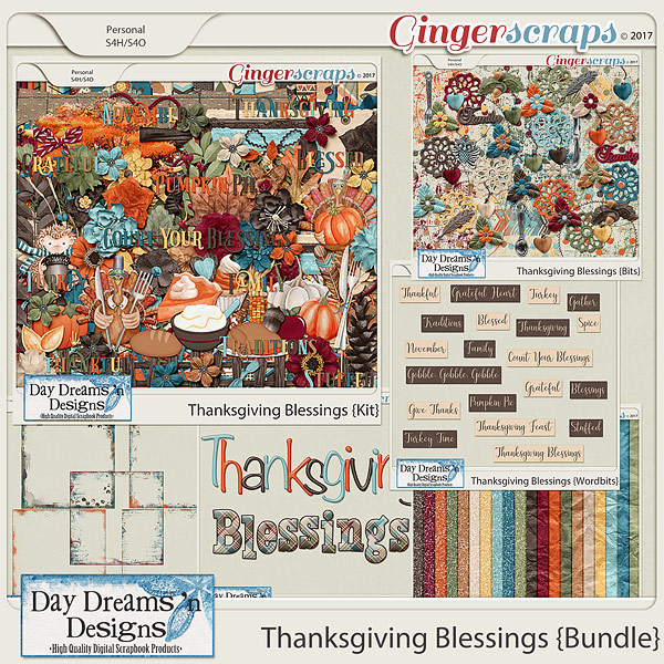 Thanksgiving Blessings {Bundled Collection} by Day Dreams 'n Designs