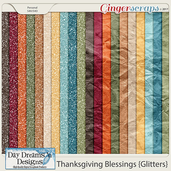 Thanksgiving Blessings {Glitter Papers} by Day Dreams 'n Designs