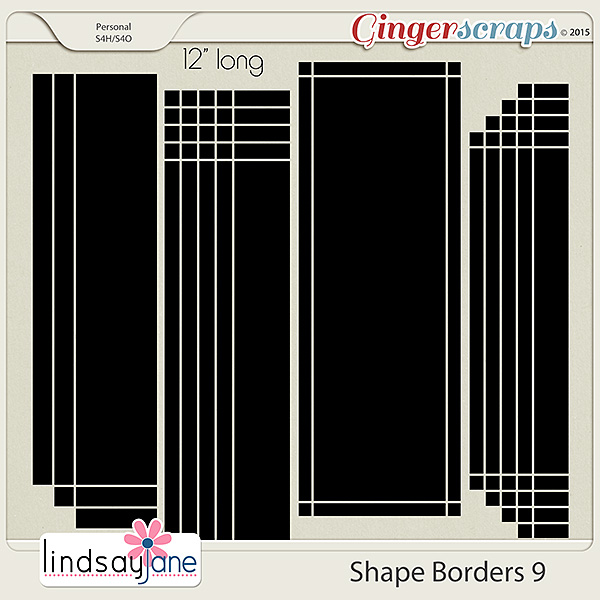 Shape Borders 9 by Lindsay Jane