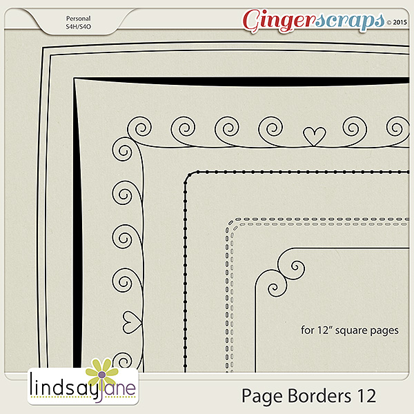 Page Borders 12 by Lindsay Jane