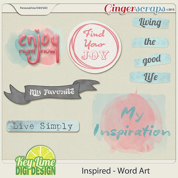 Inspired Word Art