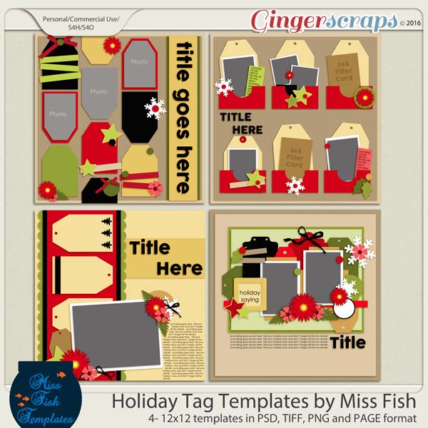 Holiday Tags Templates