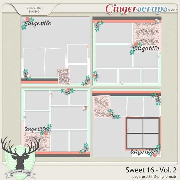 Sweet 16 Vol 2 by Dear Friends Designs