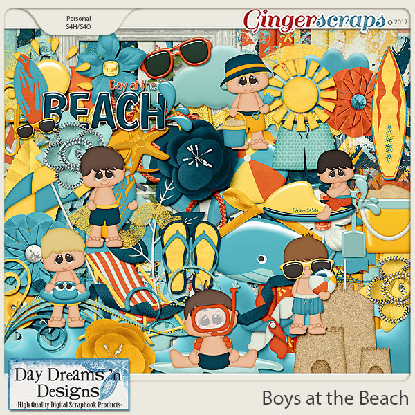 Boys at the Beach {Kit} by Day Dreams 'n Designs