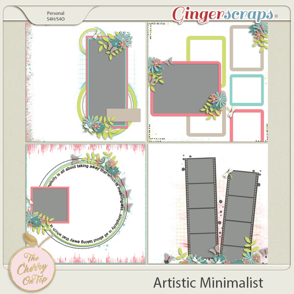 The Cherry On Top:  Artistic Minimalist Templates